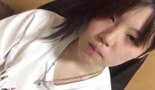 Cute Chinita Call Center Agent Girlfriend Pinakain ng Tamod