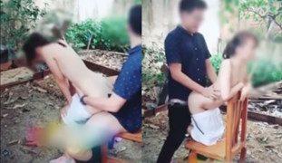 Pinay Outdoor SEX sa Backyard, Wapakels sa Mga Kapitbahay