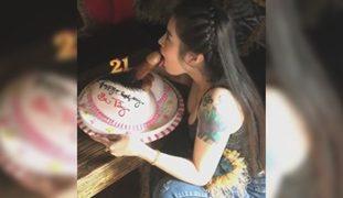 LDR Pinay Couple Sinurpresa ni BF ng Cake na May Tite